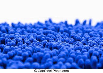 Carpet  - Close up of Blue carpet strands texture