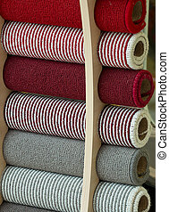 Carpet samples - Selection of carpet samples to choose the...
