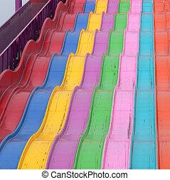 Carpet Slide - Rug slide on Midway at Calgary Stampede. ...
