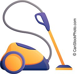 Carpet steam cleaner icon, cartoon style