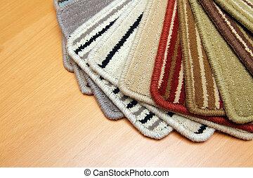 carpet  - Samples of color a carpet covering in shop
