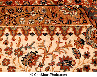 Carpet surface - Ornamented rug. Carpet background with...