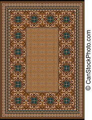 Carpet with a blue pattern