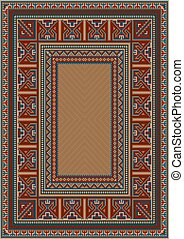 Carpet with ethnic pattern
