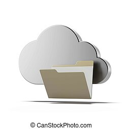 Carpeta, nube, informática