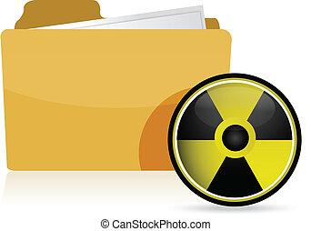 Carpeta, radioactivo, símbolo
