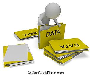 carpetas, archivos, medios, base de datos, interpretación,...