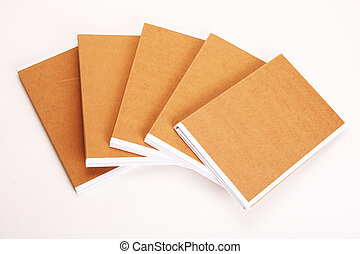 carpetas de fichero, disecado, con, papeleo