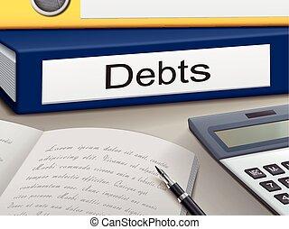 carpetas, deudas