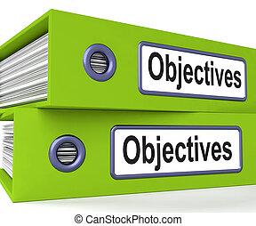carpetas, empresa / negocio, objetivos, metas, blancos,...