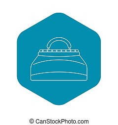 Carpetbag icon, outline style