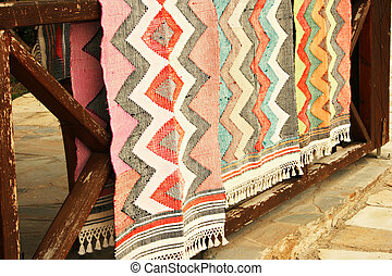 Carpets - Cyprus vintage  carpets in old village.
