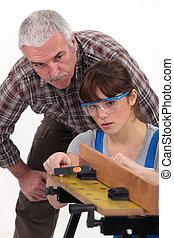carpintero, aprendiz