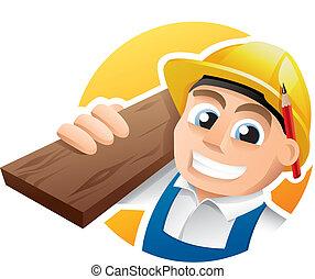 carpintero, ilustración
