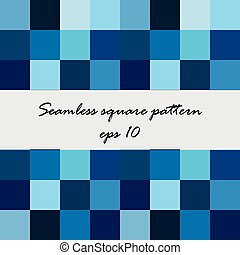 carré bleu, fond, résumé, seamless, modèle, vecteur, tonalités