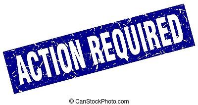 carré bleu, grunge, timbre, requis, action