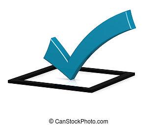 carré bleu, noir, marque contrôle