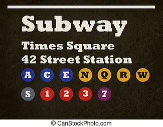 carré temps, grunge, signe métro