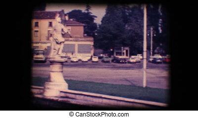 carrée, église, 8mm., ville, vendange