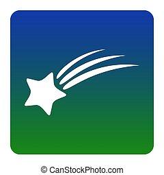 carrée, étoile, arrière-plan., isolated., coins, signe., vert-bleu, gradient, vector., arrondi, blanc, tir, icône