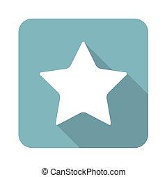 carrée, étoile, icône