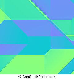 carrée, arrière-plan vert