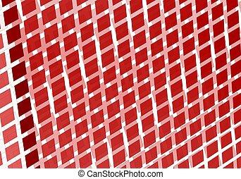 carrée, art, résumé, perspective, numérique, fractal, rouges