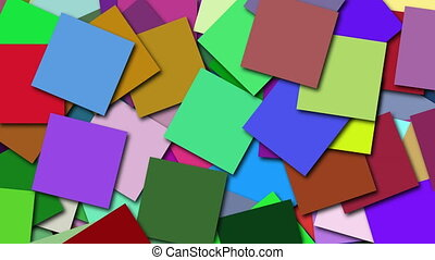 carrée, beaucoup, coloré, formes, rendre, engendré, informatique, surface, toile de fond, 3d