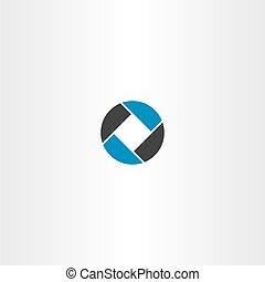 carrée, business, résumé, vecteur, logo, cercle