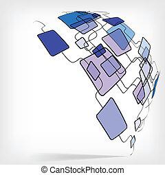 carrée, coloré, conception abstraite, retro, gabarit
