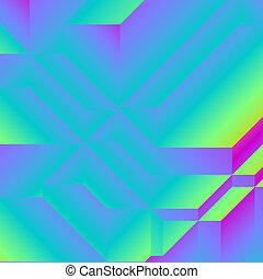 carrée, coloré, fond