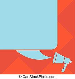 carrée, disposition, affaires colorent, affiche, invitation, salutation, vecteur, parole, vide, gabarit, vide, silhouette, promotion, porte voix, bulle, carte, bon