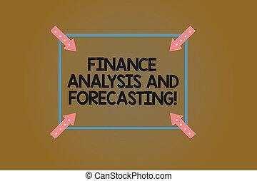 carrée, financier, finance, pointage, analysisagement, texte, projection, contour, flèches, analyse, signe, business, arrière-plan., forecasting., inwards, photo, conceptuel, coin, couleur, stratégies