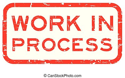 carrée, grunge, processus, travail, tampon, fond, cachet, blanc rouge