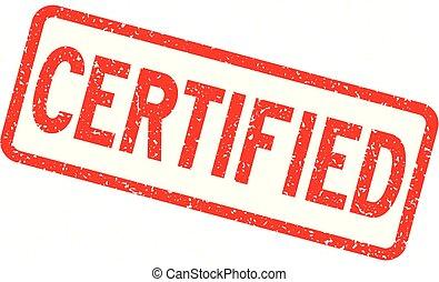 carrée, grunge, timbre, caoutchouc, certifié, fond, cachet, blanc rouge