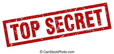 carrée, grunge, timbre, secret supérieur, rouges