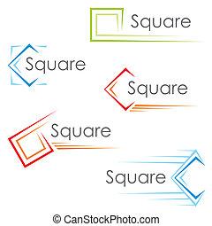 carrée, icônes