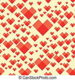 carrée, modèle coeur, fond, mer
