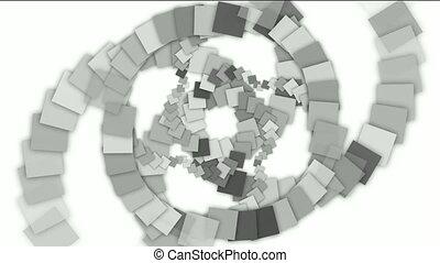 carrée, papier, formé, rotation, tunnel