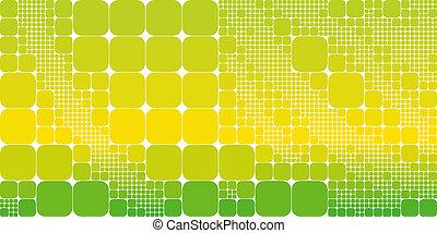 carrée, résumé, jaune, géométrique, arrière-plan vert