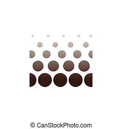 carrée, résumé, vecteur, logo, cercle, icône