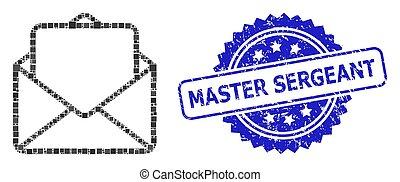 carrée, timbre, point, ouvert, détresse, sergent, lettre, ...