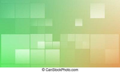 carrée, vert, mouvement