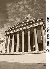 carrée, vieux, effect., photo, galerie nationale, royaume-uni, trafalgar, londres