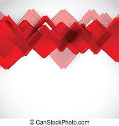 carrés, fond, rouges