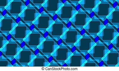 carrés, résumé, fond, boucle