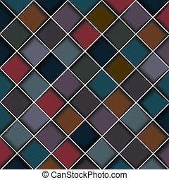 carrés, structure, multicolore