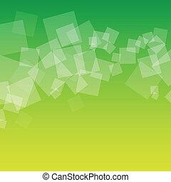 carrés, vert