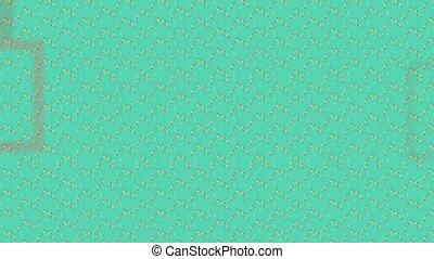 carrés, vidéo, zoom, résumé, fond, vert, infini