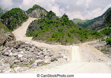 Carrara  marble stone pit 07